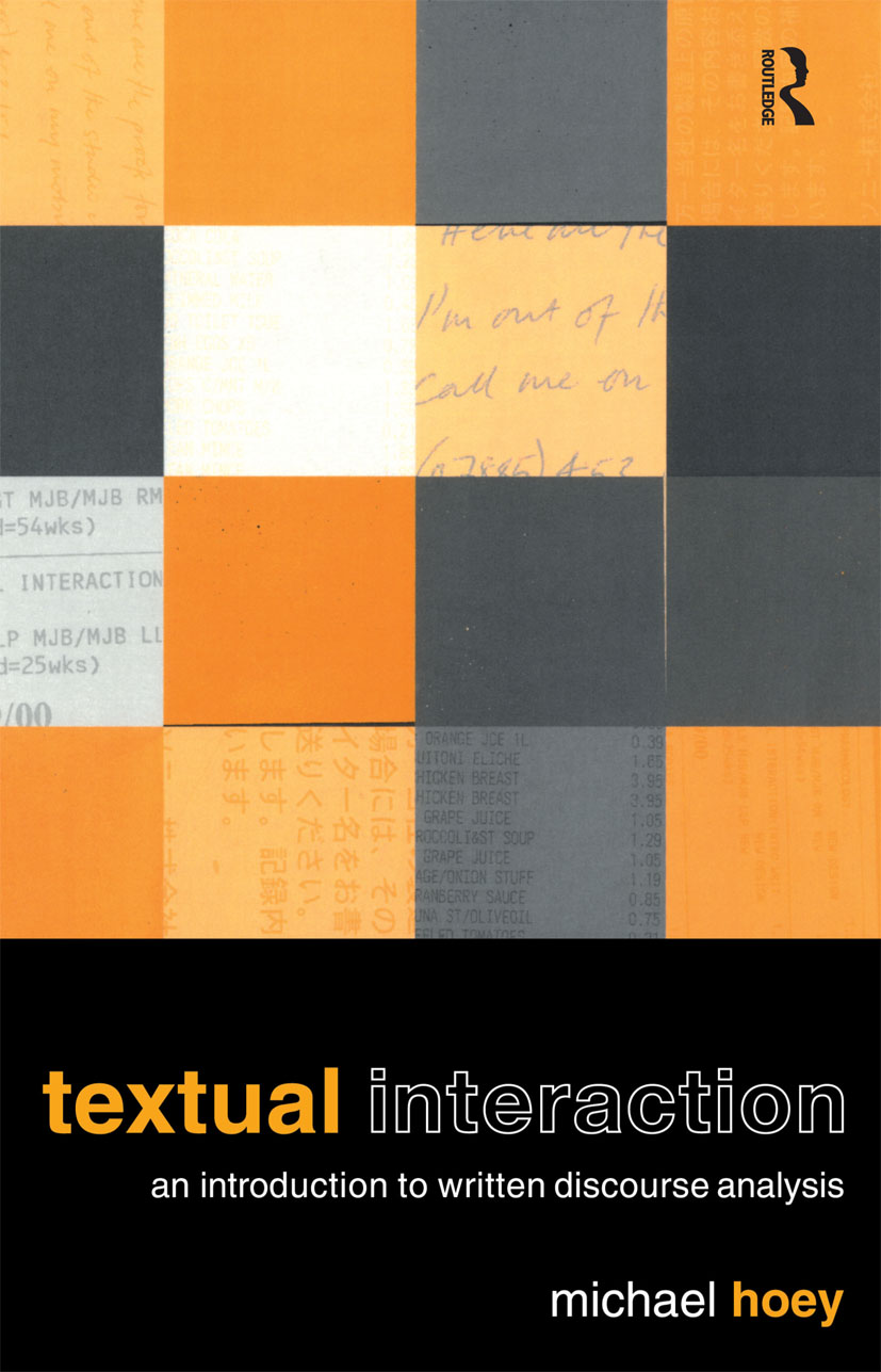 Textual Interaction: An Introduction to Written Discourse Analysis (Paperback) book cover