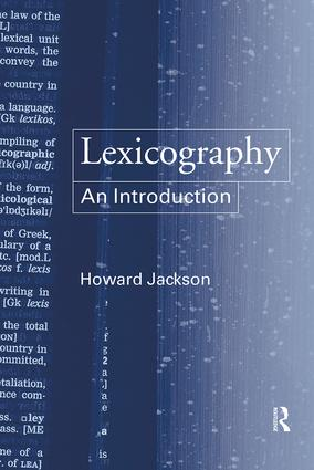 Lexicography: An Introduction, 1st Edition (Paperback) book cover
