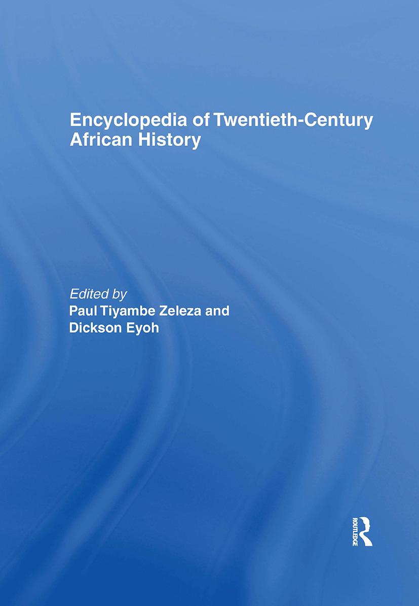Encyclopedia of Twentieth-Century African History (Hardback) book cover