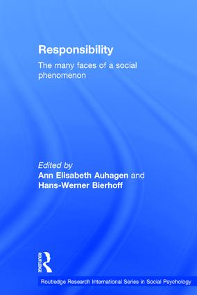 Responsibility: The Many Faces of a Social Phenomenon, 1st Edition (Hardback) book cover