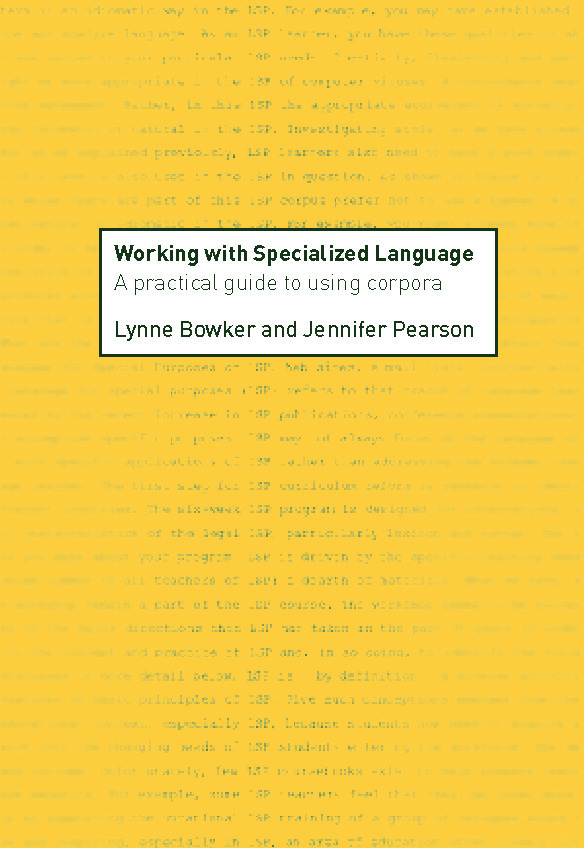 Working with Specialized Language: A Practical Guide to Using Corpora, 1st Edition (Paperback) book cover