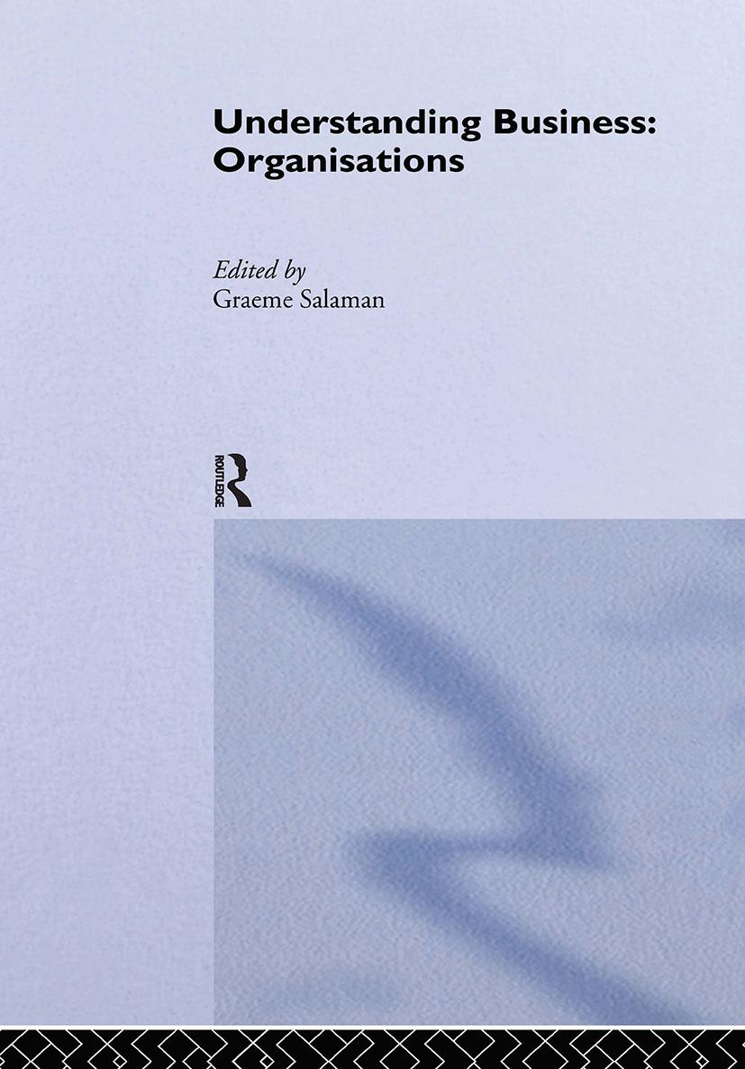 Understanding Business Organisations book cover