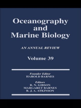 Oceanography and Marine Biology, An Annual Review, Volume 39: An Annual Review: Volume 39 book cover