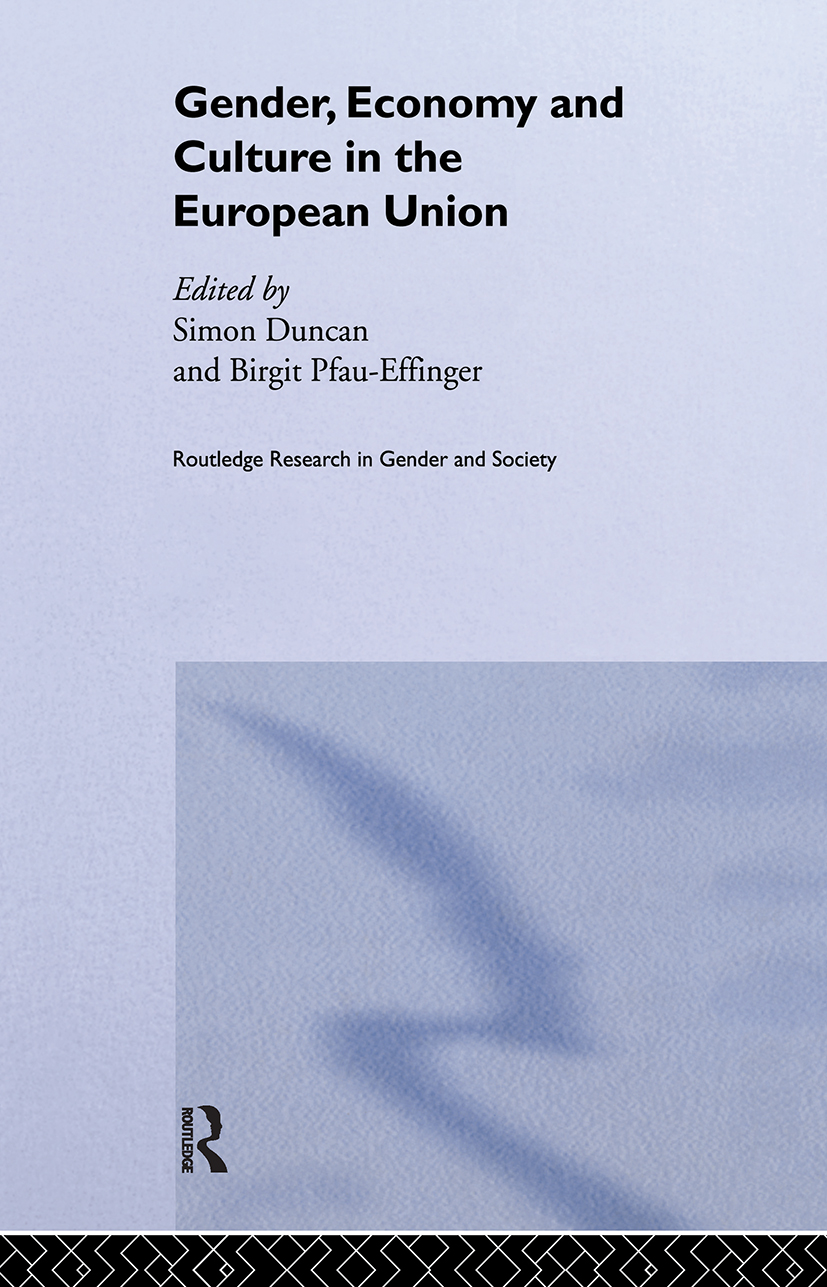 Gender, Economy and Culture in the European Union: 1st Edition (Hardback) book cover