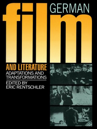 German Film & Literature: 1st Edition (Paperback) book cover