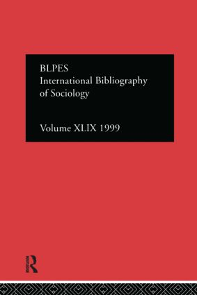 IBSS: Sociology: 1999 Vol.49 (Hardback) book cover