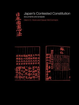 Japan's Contested Constitution: Documents and Analysis book cover