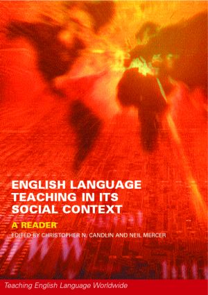 English Language Teaching in Its Social Context: A Reader (Paperback) book cover