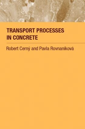 Transport Processes in Concrete: 1st Edition (Paperback) book cover