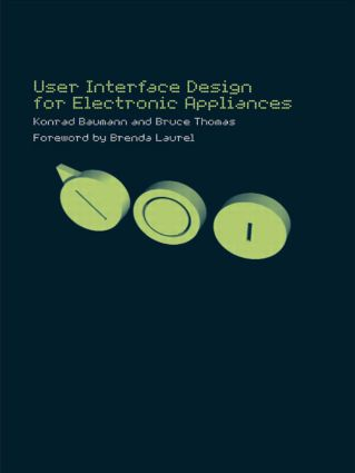 User Interface Design of Electronic Appliances: 1st Edition (Hardback) book cover