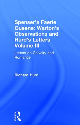 Letters On Chivalry & Romance: 1st Edition (Hardback) book cover