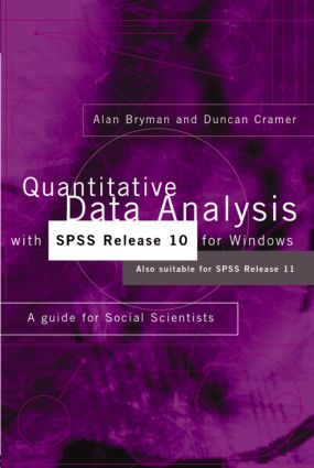 Analysing data with computers: further steps with SPSS 10 for
