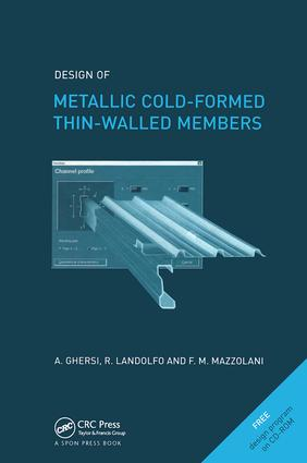 Design of Metallic Cold-Formed Thin-Walled Members: 1st Edition (Hardback) book cover