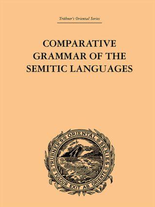 Comparative Grammar of the Semitic Languages