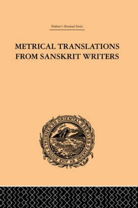 Metrical Translations from Sanskrit Writers: 1st Edition (Paperback) book cover