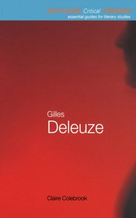 Gilles Deleuze book cover