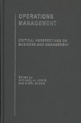 Operations Management book cover