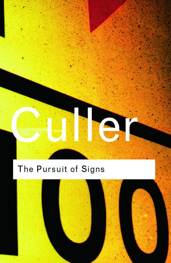The Pursuit of Signs (Paperback) book cover