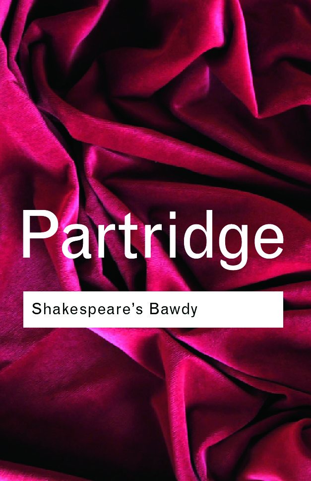 Shakespeare's Bawdy: 4th Edition (Paperback) book cover