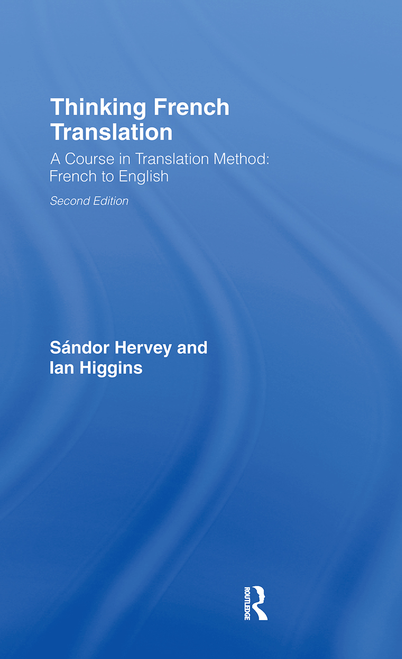 Thinking French Translation: 2nd Edition (Hardback) book cover