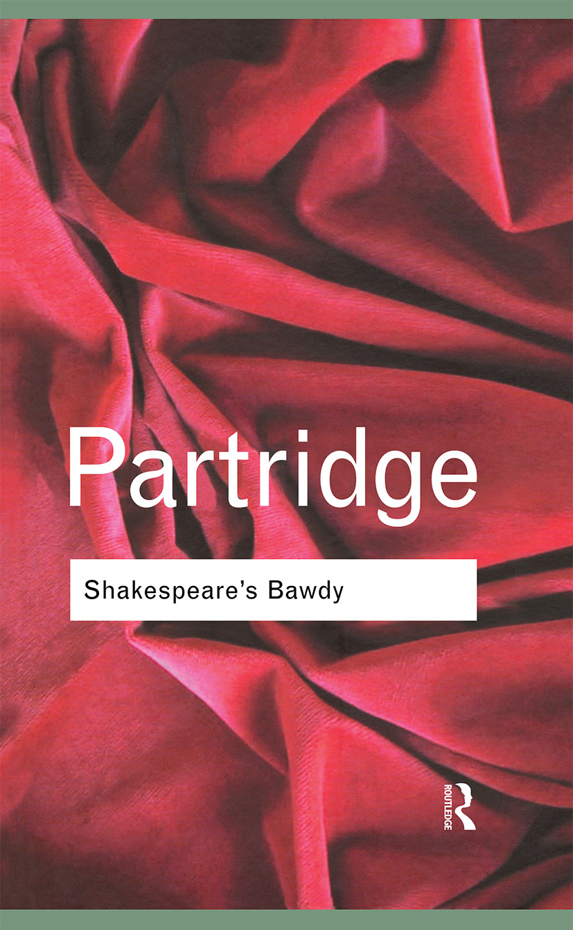 Shakespeare's Bawdy: 4th Edition (Hardback) book cover