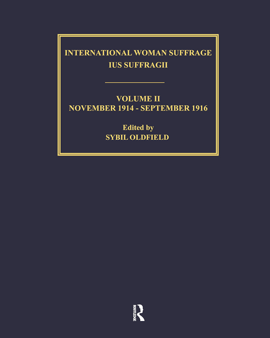 Ius Suffragii 1913-1920 V2 (Hardback) book cover
