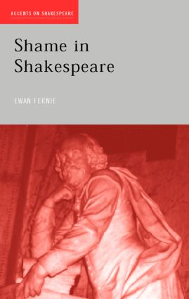 Shame in Shakespeare (Paperback) book cover