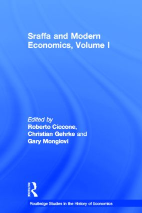 Sraffa and Modern Economics, Volume I (Hardback) book cover