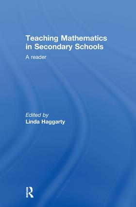 Teaching Mathematics in Secondary Schools: A Reader, 1st Edition (Hardback) book cover