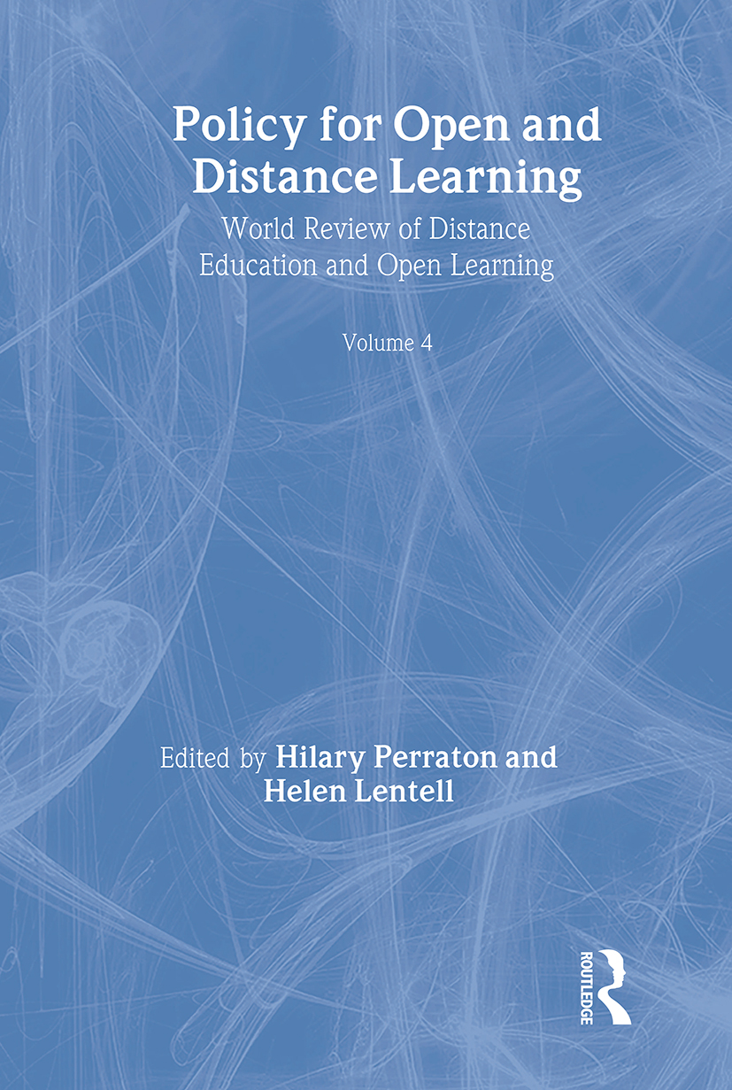 Policy for Open and Distance Learning: World review of distance education and open learning Volume 4 (Paperback) book cover