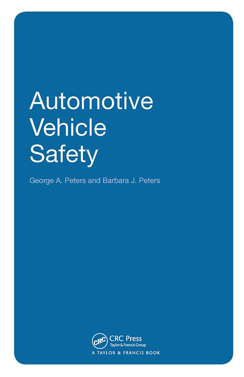 Automotive Vehicle Safety: 1st Edition (Hardback) book cover