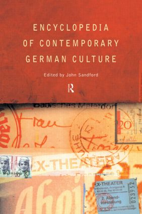 Encyclopedia of Contemporary German Culture (Paperback) book cover