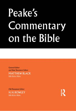 Peake's Commentary on the Bible (Paperback) book cover