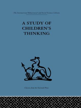A Study of Children's Thinking (Hardback) book cover