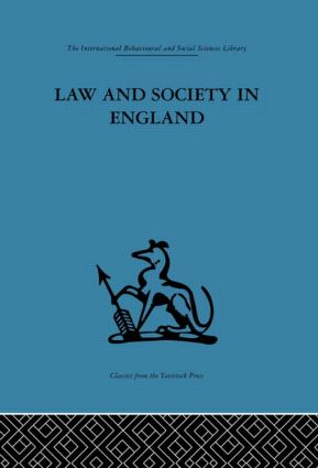 Law and Society in England (Hardback) book cover