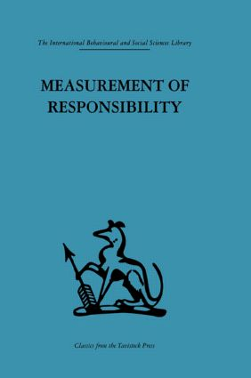 Measurement of Responsibility: A study of work, payment, and individual capacity, 1st Edition (Hardback) book cover