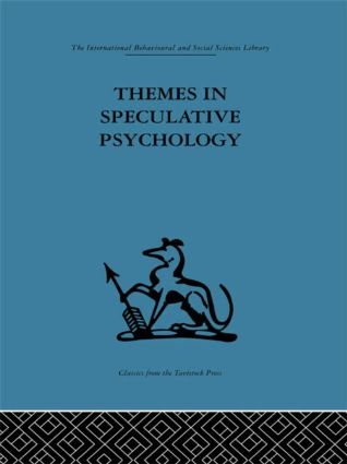 Themes in Speculative Psychology (Hardback) book cover