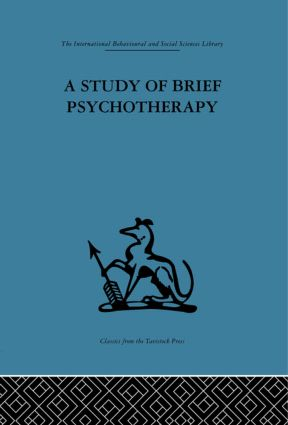 A Study of Brief Psychotherapy (Hardback) book cover