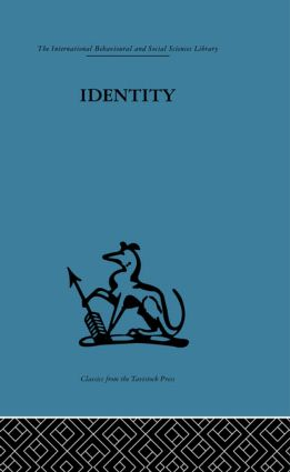 Identity: Mental health and value systems (Hardback) book cover