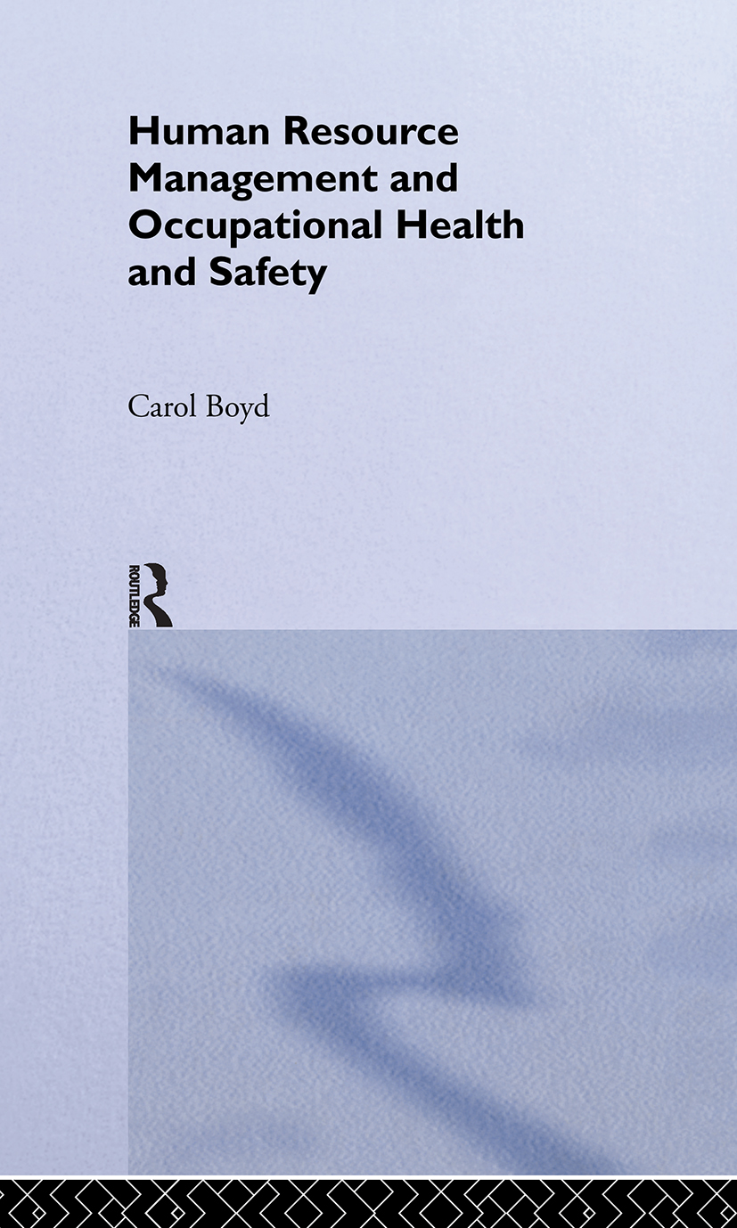 Human Resource Management and Occupational Health and Safety: 1st Edition (e-Book) book cover