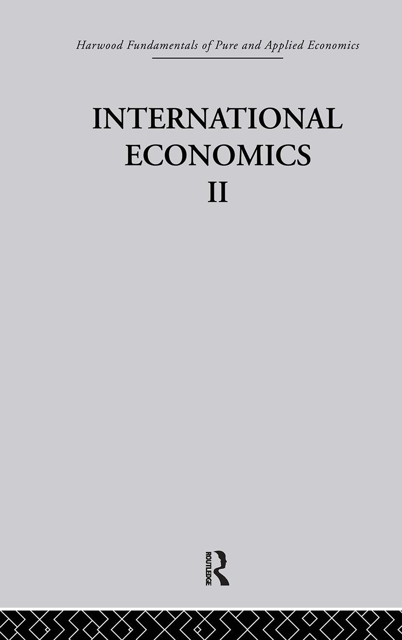 B: International Economics II: 1st Edition (Hardback) book cover