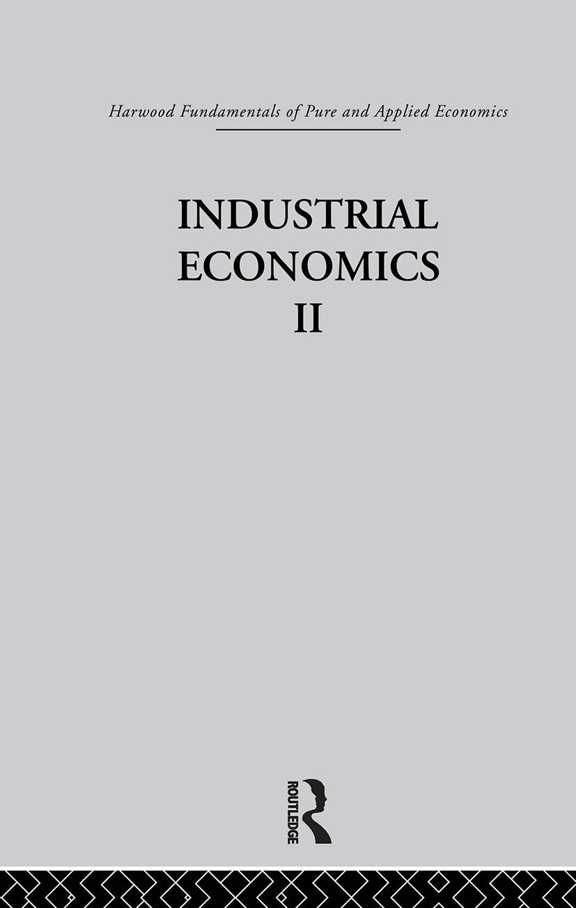 D: Industrial Economics II: 1st Edition (Hardback) book cover