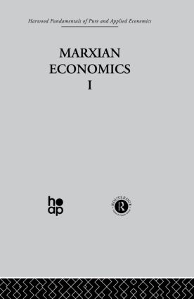 U: Marxian Economics I: 1st Edition (Hardback) book cover