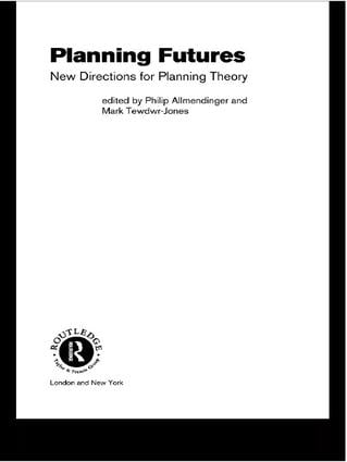 Planning Futures: New Directions for Planning Theory book cover