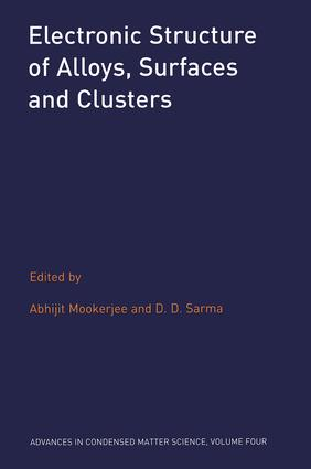 Electronic Structure of Alloys, Surfaces and Clusters: 1st Edition (Hardback) book cover