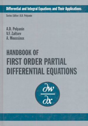 Handbook of First-Order Partial Differential Equations: 1st Edition (Hardback) book cover
