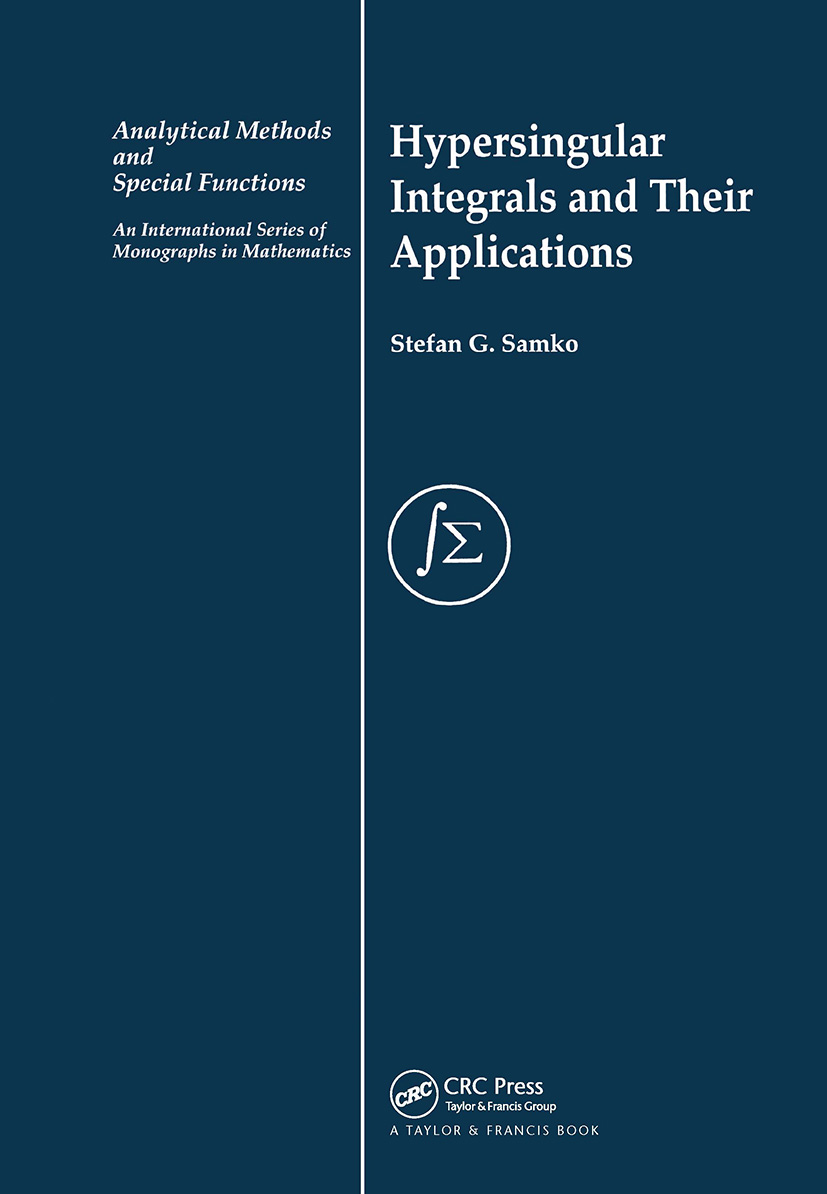 Hypersingular Integrals and Their Applications book cover