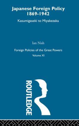 Jap Foreign Pol 1869-1942 V11 (Hardback) book cover