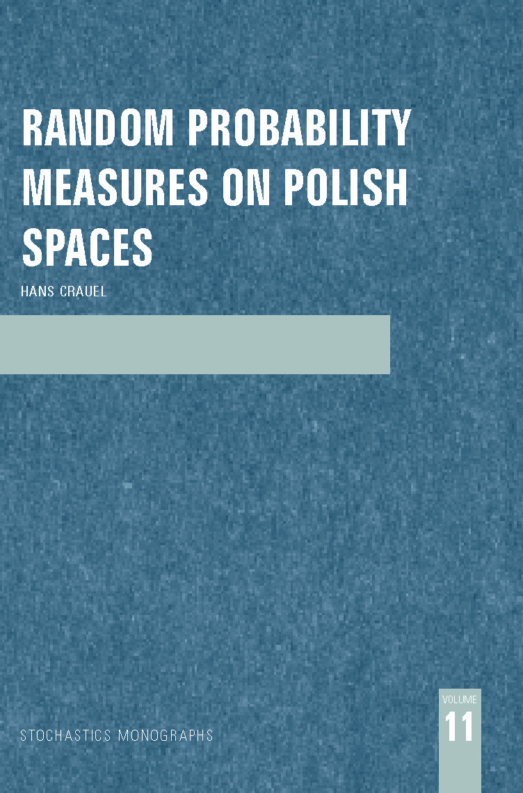 Random Probability Measures on Polish Spaces: 1st Edition (Hardback) book cover