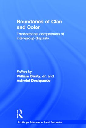 Boundaries of Clan and Color: Transnational Comparisons of Inter-Group Disparity (Hardback) book cover